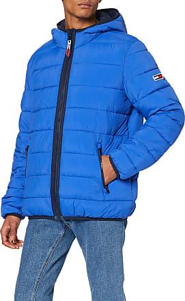Tommy Jeans Mens TJM Essential Padded Hood Jacket Sports, Blue (Blue Ckb), XX-Large (Size:XXL)