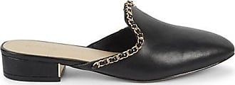 Karl Lagerfeld Charlot Leather Block-Heel Mules