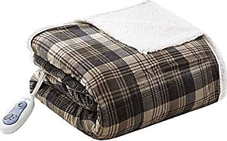 Woolrich Elect Electric Blanket Throw with 3 Heat Level Setting Controller, 60W x 70L, Tasha Brown