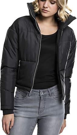 Urban Classics Womens Ladies Oversized High Neck Jacket, Black, M