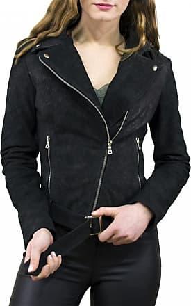 Leather Trend Italy Chiodo Donna - Giacca in Vera Pelle con Cintura colore Nero