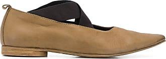 Uma Wang criss-cross strap loafers - Green