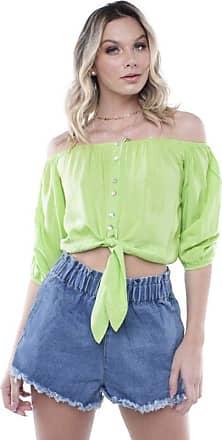 Pop Me Blusa Ombro a Ombro Colors Pop Me-verde-pp