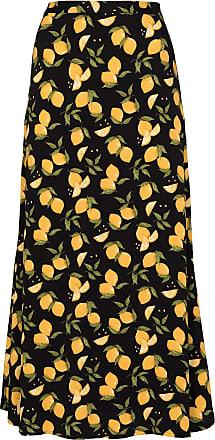 Reformation Vestido midi com estampa de limão Bea - Preto