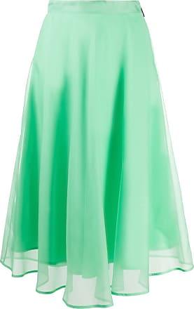 Msgm sheer overlay midi skirt - Green