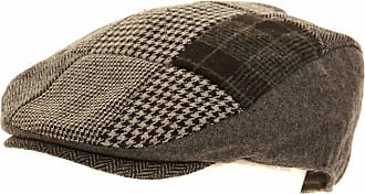 Universal Textiles Mens Patchwork Winter Flat Cap with Wool (58cm) (Grey)