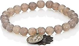 b3d72f26f11 Miracle Icons Mens Vintage Icon Charms On Beaded Bracelet - Gray