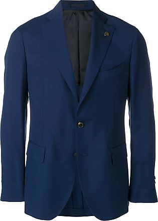 Lardini skull detail suit jacket - Blue