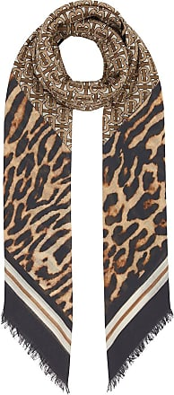 Burberry monogram print square scarf - Brown