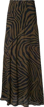 Layeur Saia com estampa de zebra - Marrom