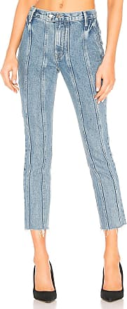 GRLFRND Monroe High-Rise Crop Cigarette in Blue