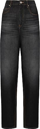 Isabel Marant Calça jeans reta cintura alta - Preto