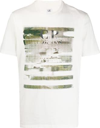 C.P. Company Camiseta com estampa gráfica - Branco