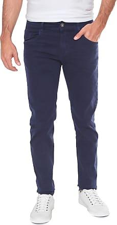 Sawary Calça Sarja Sawary Slim Comfort Azul