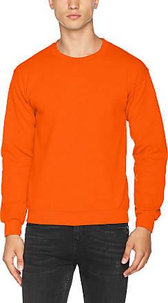 Gildan Gildan Mens 50/50 Adult Crewneck Sweat Sweatshirt, Orange, XX-Large