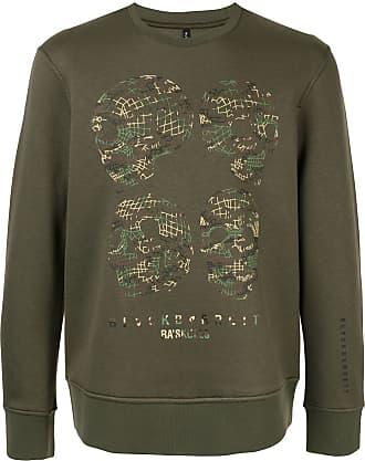 Blackbarrett Suéter com estampa de caveira - Verde