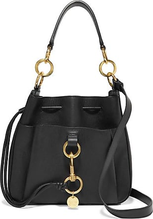 See By Chloé Tony Textured-leather Bucket Bag - Black
