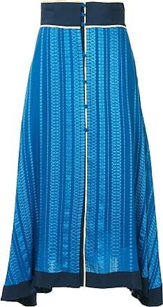 Zeus + Dione patterned asymmetric skirt - Rough Blue 124