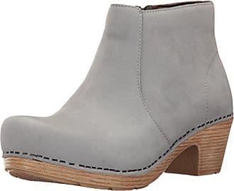 Dansko Womens Maria Ankle Bootie, Light Grey Milled Nubuck, 42 EU/11.5-12 M US