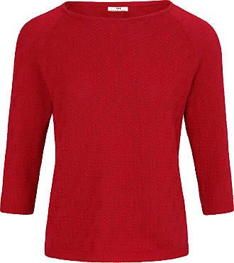 Peter Hahn Round neck jumper 3/4-length raglan sleeves Peter Hahn red