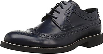 Bugatchi Mens Lombardy Brogue Oxford, Navy, 12.5 M US