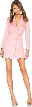 Fleur du Mal Double Breasted Blazer Dress in Pink