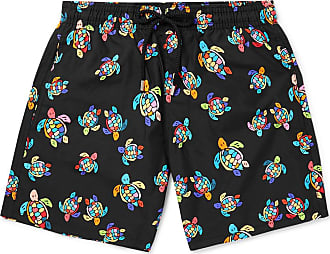Vilebrequin Moorea Mid-length Printed Swim Shorts - Black
