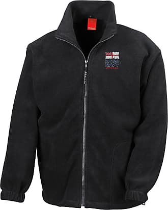 Military Online Royal Navy Veteran Embroidered Logo - Official Full Zip Heavyweight Fleece Jacket By Military Online