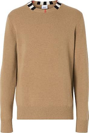 Burberry Suéter de cashmere com acabamento Icon Stripe - Marrom