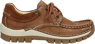 Wolky Comfort Fly Lace-Up Shoes Brown Size: 4 UK