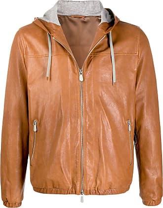 Eleventy zip-up hooded jacket - Brown