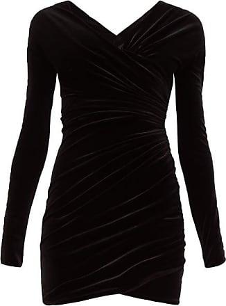 Alexandre Vauthier Sweetheart-neckline Velvet Mini Dress - Womens - Black