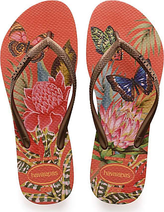 Havaianas Womens Slim Tropical Flip Flops, Strawberry, 6/7 UK 1/2 EU