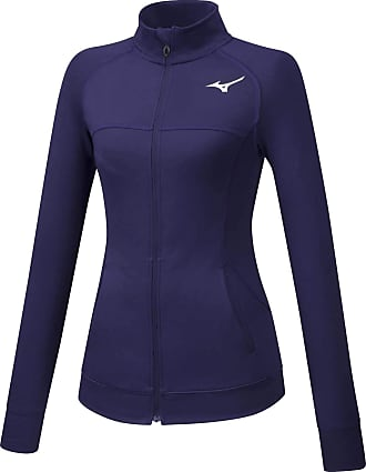 Mizuno Womens Full Zip Training Jacket - Medium Blue