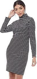 Brave Soul long sleeve high neck ribbed midi dress