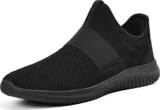 Zocavia Zocavia running shoes men women trainers breathable sports shoes trainers men lightweight fitness shoes road running shoes outdoor Black Size: 12 UK