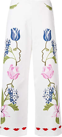 Vivetta cropped printed trousers - White