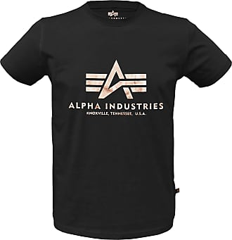 Alpha Industries Basic Alpha T-Shirt schwarz/gold, Größe L