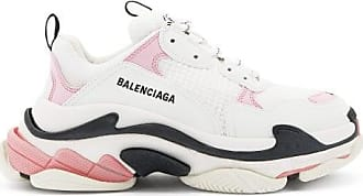 Balenciaga Triple S Leather And Mesh Trainers - Womens - Pink White