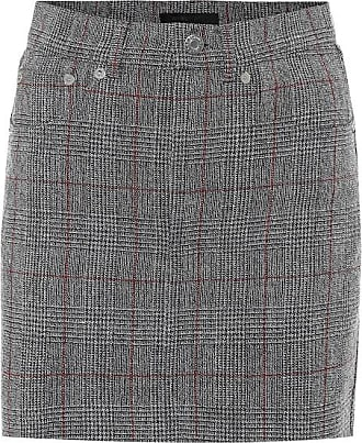 Helmut Lang Prince of Wales checked wool skirt