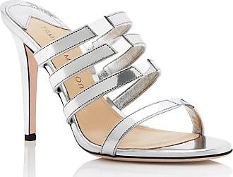 Tamara Mellon Slash Argento Specchio Sandals, Size - 35.5