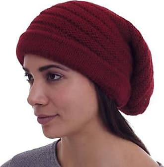 Novica Alpaca blend hat, Andean Cherry