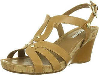 Geox Womens Roxy 30 Wedge Sandal, Camel, 41 M EU/10.5 M US
