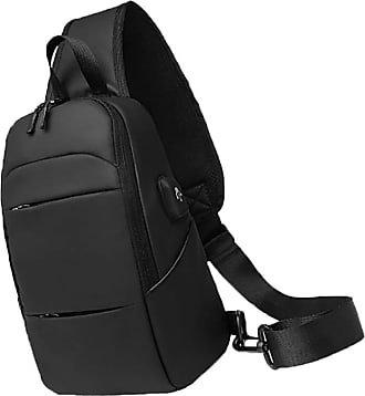 NA Chest Crossbody Bag, Multifunctional Unisex Crossbody Bag, Male Chest Bag with USB Charging Port Headphone Jack, Suitable for Outdoor, Travel, Daily