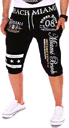 Isshe Mens Shorts Sweatpant Floral Cargo Combat Jogger Pants Men Jogging Elasticated Bottom Tracksuit Bottoms Black