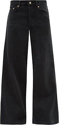 Raey Stride Wide-leg Jeans - Womens - Black