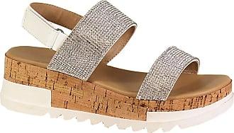 Yoki Womens BRENDA-19 Heeled Sandal, White, 6.5 UK