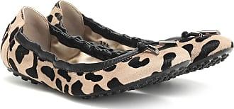 Tod's Exclusive to Mytheresa - Leopard-print calf hair ballet flats
