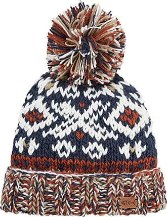 Weird Fish Paulo Fair Isle Patterned Hat Navy Size ONE