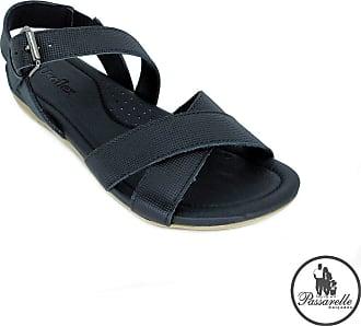 Usaflex Sandália Feminina Usaflex Confort em Couro 7005 - Preto